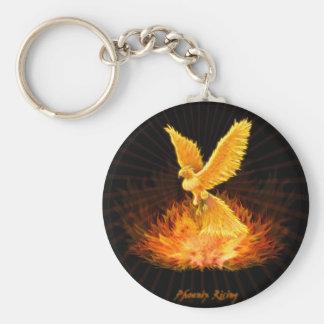 Phoenix resning rund nyckelring