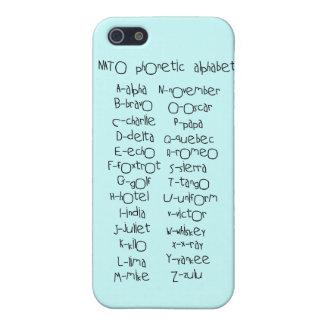 Phonetic alfabet för NATO iPhone 5 Skydd