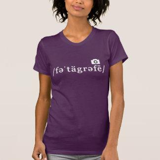 Phonetic fotografi (den Customisable purpurfärgade T-shirt