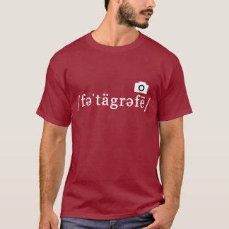 Phonetic fotografi (den Customisable rödbruna T Shirts
