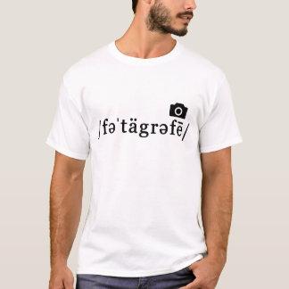 Phonetic fotografi (vitT-tröja som, är T-shirt