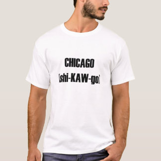 Phonetic stava av den Chicago tshirten Tröjor
