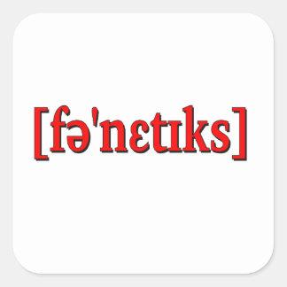 Phonetics i IPA. Rött Fyrkantigt Klistermärke