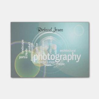 Photagraphy typografiBokeh fotograf Post-it Block