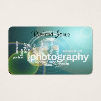 Photagraphy typografiBokeh fotograf Visitkort