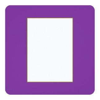 Phuket purpurfärgad kunglig violett indigoblått fyrkantigt 13,3 cm inbjudningskort