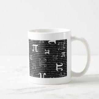 Pi är kvadrerar kaffemugg
