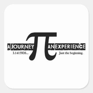 Pi: En resa. En erfara Fyrkantigt Klistermärke