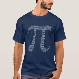 Pi-fractalen numrerar tee shirt