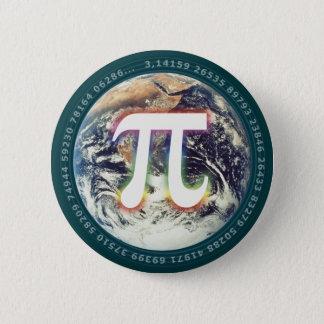 Pi numrerar på Math för jord | Standard Knapp Rund 5.7 Cm