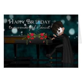 Pianist kort för pianospelarefödelsedag