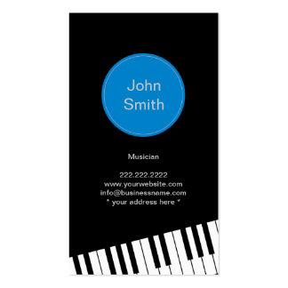 Pianist-/musikervisitkort för modern Jazz Visitkort