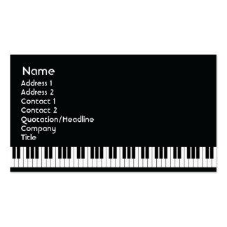 Piano - affär visitkort mallar