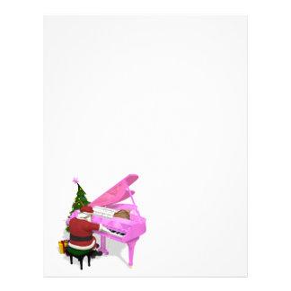 Piano för jultomtenlekrosor brevhuvud