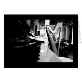 Piano & harpa [hälsningkortet] hälsningskort