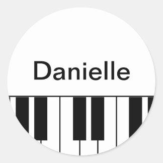 """""""Piano"""" klistermärke"""