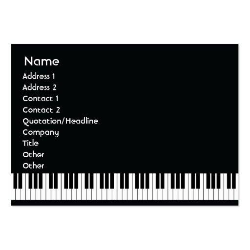 Piano - knubbig visit kort