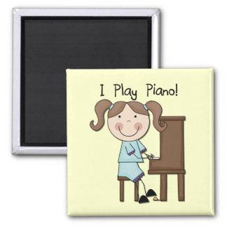 Piano - kvinnliga Tshirts och gåvor Magnet