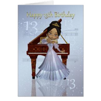 Piano och för 13th gullig afrikansk förmiddag kort