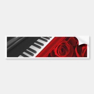 Piano och ro bildekal