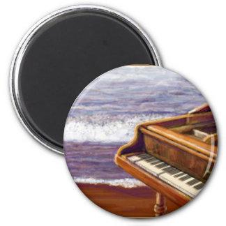 Piano på en strand magnet
