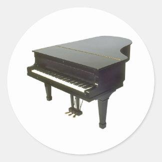 Piano Runt Klistermärke