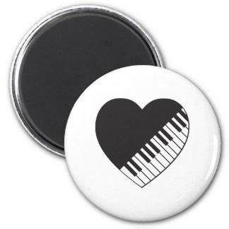 Pianohjärta Magnet