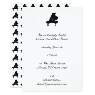 Pianohögläsning 12,7 X 17,8 Cm Inbjudningskort