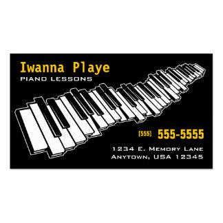 Pianokursvisitkort Set Av Standard Visitkort