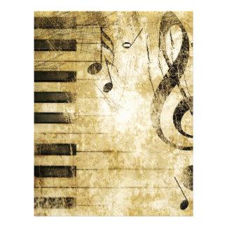 Pianomusik noter brevhuvud