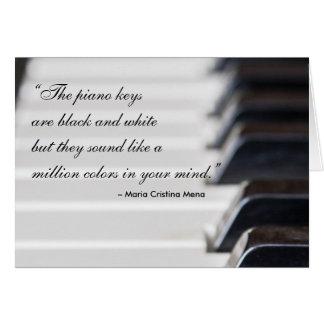 Pianonyckelcitationstecken Hälsningskort