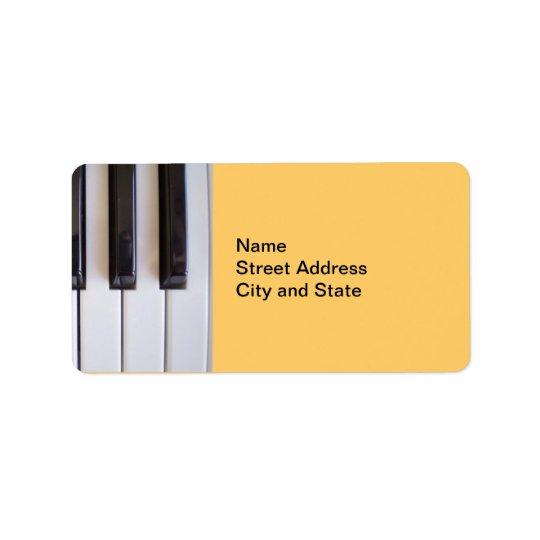 Pianonycklar Adressetikett