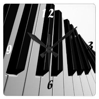 Pianonycklar Fyrkantig Klocka