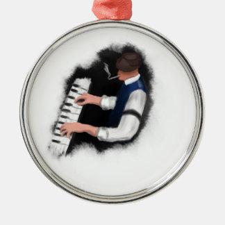 Pianosångare Julgransprydnad Metall