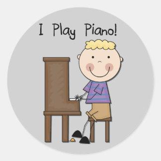 PianospelareTshirts och gåvor Klistermärke