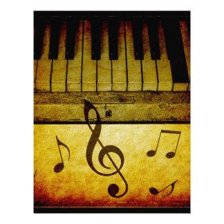 Pianot stämm vintage brevhuvud