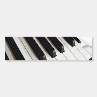 Pianotangentbord Bildekal