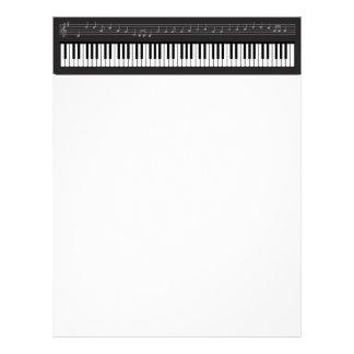 Pianotangentbord Brevhuvud