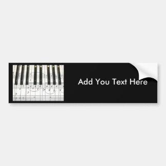 Pianotangentbord och musik noter bildekal