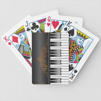 Pianotangentbord Spelkort