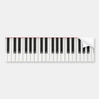 Pianotangentbordnycklar Bildekal