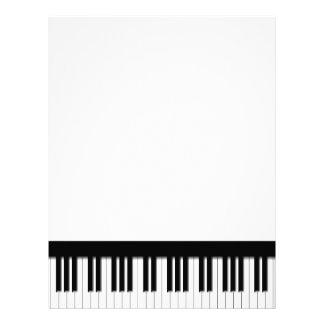 Pianotangentbordnycklar Brevhuvud