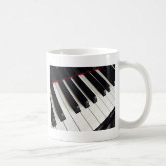 Pianotangentbordnycklar Vit Mugg