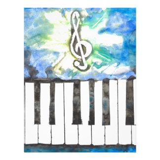 Pianovattenfärg Brevhuvud