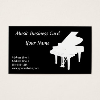 Pianovisitkort B&W Visitkort