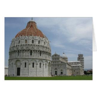 Piazza del Duomo i Pisa, Tuscany, italien Hälsningskort