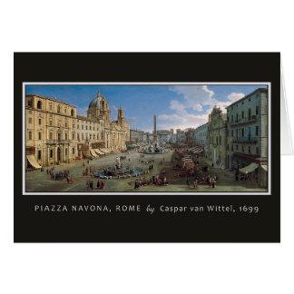 Piazza Navona, Rome beställnings- hälsningkort Hälsningskort