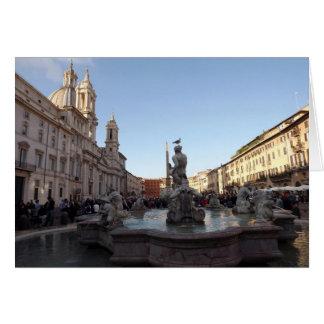 Piazza Navona Rome Hälsningskort
