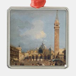 Piazza San Marco, Venedig, c.1760 Julgransprydnad Metall