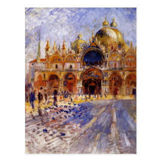 Piazzaen San Marco vid Pierre-Auguste Renoir Vykort